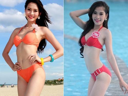 Cả hai người đẹp đều sở hữu chiều cao tương đồng 1m73 và sắc vóc mảnh mai, gương mặt thanh tú.