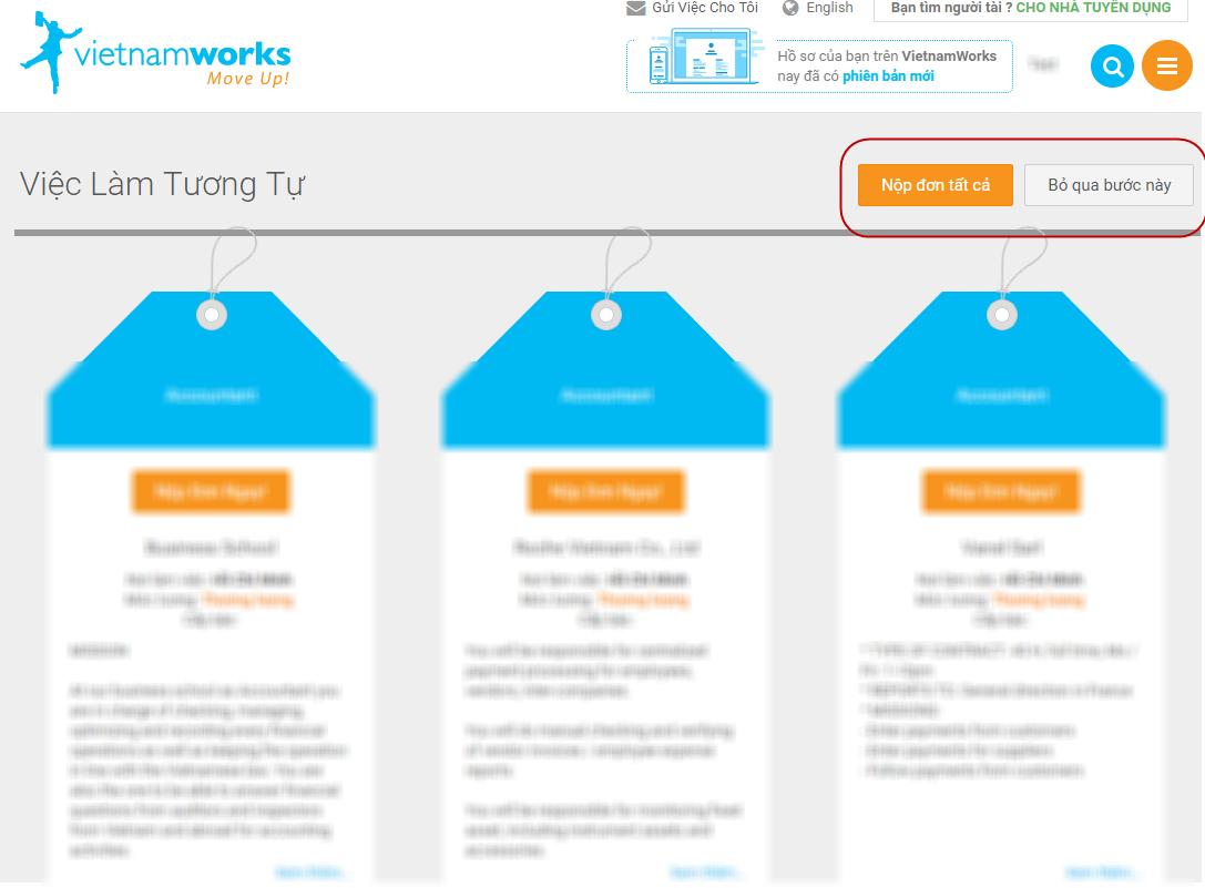 Trang Vietnamworks.com là trang tìm việc và tuyển dụng hàng đầu Việt Nam. (Ảnh: internet)