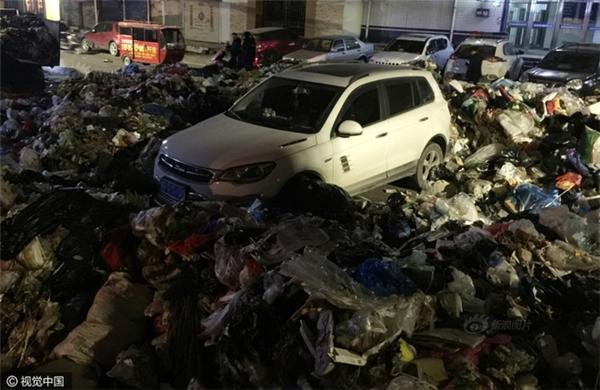 Chiếc xe nằm gọn trong bãi rác rộng tới 200m2.