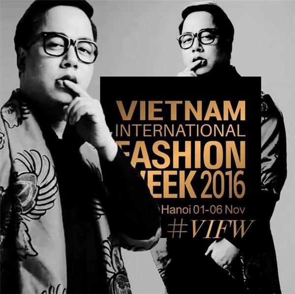 Tùng Leo giữ vai trò MC của Vietnam International Fashion Week Thu - Đông 2016.