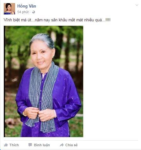 """NSND Hồng Vân không nói nên lời trước nỗi đau quá lớn. Chị nghẹn ngào nói lời """"vĩnh biệt má Út"""". - Tin sao Viet - Tin tuc sao Viet - Scandal sao Viet - Tin tuc cua Sao - Tin cua Sao"""