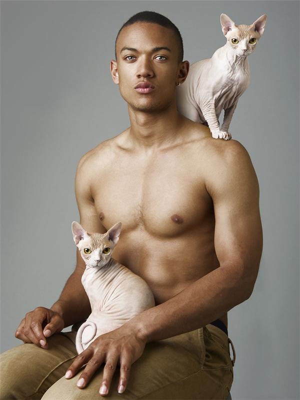 Bạn đang ngắm hai con mèo Yolanda và Ygrittehay chàng trai trong bức hình.