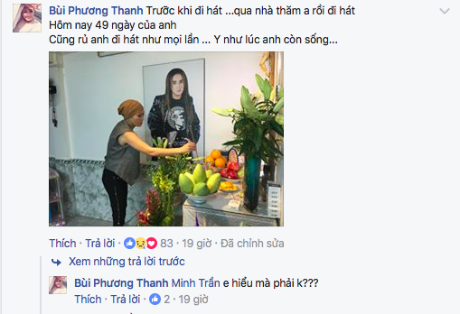 Bên cạnh đó, Phương Thanh cho biết trong những ngày này cô luôn đến thắp hương cho Minh Thuận trước khi đi hát. - Tin sao Viet - Tin tuc sao Viet - Scandal sao Viet - Tin tuc cua Sao - Tin cua Sao