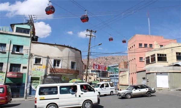 Tình trạng giao thông phức tạpthường xuyên xảy ra ở thành phố La Paz.