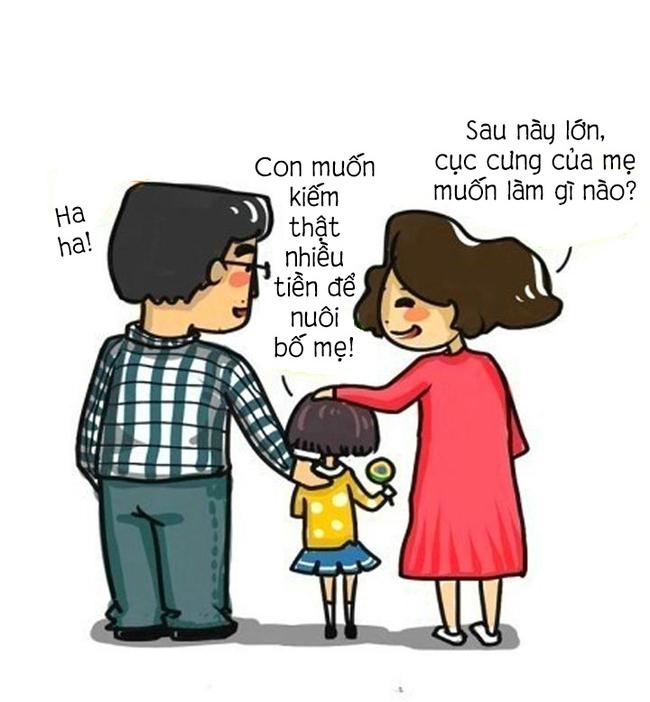 Cha mẹ chính là động lực đầu tiên giúp bạn nỗ lực phấn đấu.