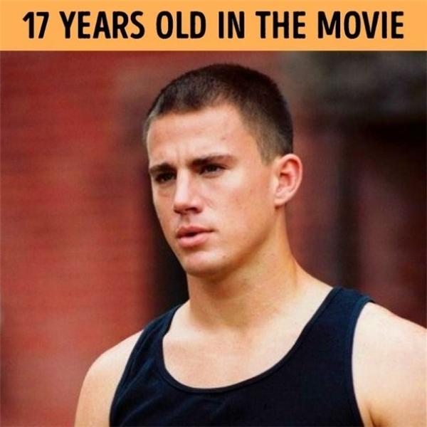 Channing Tatum vào vai một dancer 17 tuổi nóng bỏng và nhiệt huyết, trong khi tuổi thực là 26.