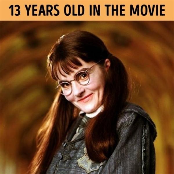 Vào thời điểm phim bấm máy,Shirley Henderson đã 37 tuổi, lớn gần gấp 3 số tuổi củacon ma Myrtle!