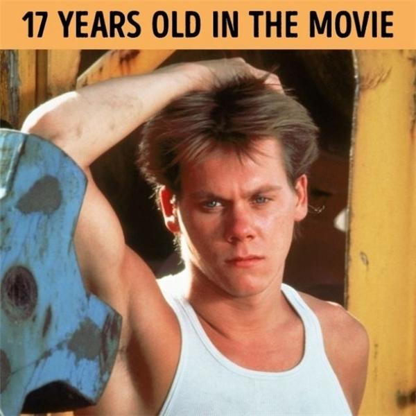 Trông Kevin Bacon có vẻ khá... ngơ ngác khi vào vai chàng trai 17 tuổi - Ren. Thực tế thì khi ấy, Kevin Bacon đã đầu 2 đít chới với 6, hơn vai diễn của mình tới9 tuổi.
