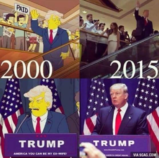 Viễn cảnh Trump lên làm tổng thống Mỹđã từngđược lên phim hoạt hình. Dự báo quá siêu