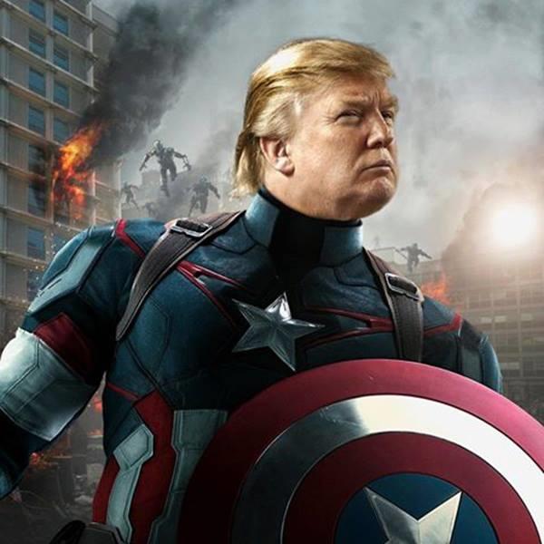 Donald Trump,Captain America phiên bản mới nhất.