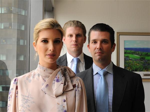 Ba chị em Ivanka,Donald Jr. và Eric