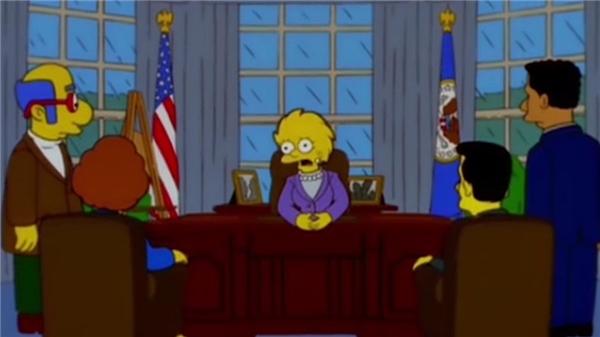Nhân vật Lisa làm nữ Tổng thống của nước Mỹ sau Donald Trump. (Ảnh; internet)