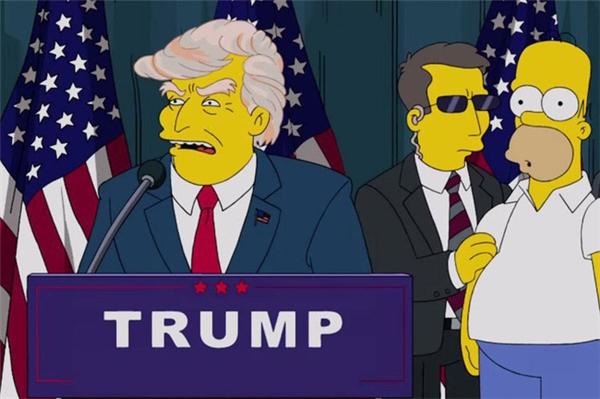 """Donald Trump làm Tổng thống Mỹ là một tình huống giễu cợt trong phim """"Gia đình Simpsons"""". (Ảnh: internet)"""