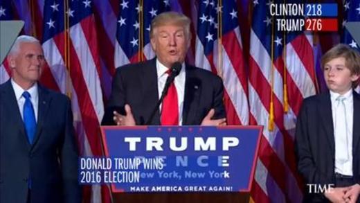 Donald Trump đắc cử trở thành tân Tổng thống Mỹ tương lai.
