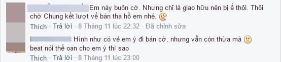 Một số bạn khác phân trần rằng cô gái này thực ra là đang đi bán băng rôn, cờ xí để cổ vũ đội tuyển Việt Nam.(Ảnh: Chụp màn hình)
