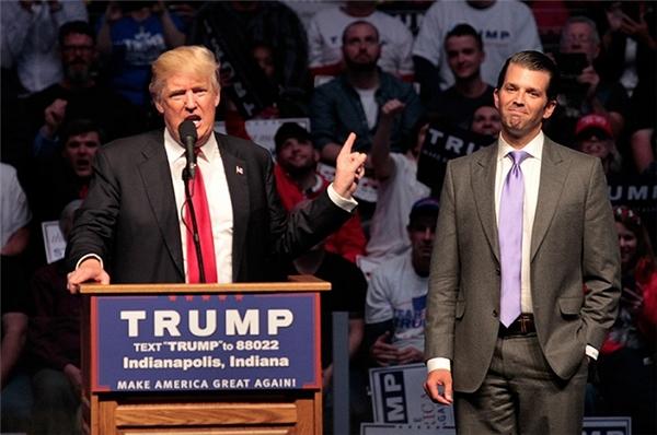 Donald Trump và con trai lớn - Donald Trump Junior.