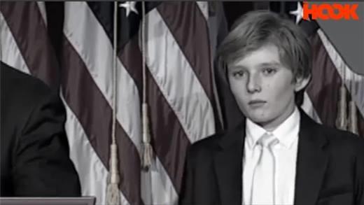 Đoạn clip con trai út ngủ gật khi Donald Trump phát biểu gây sốt