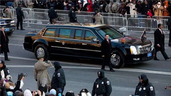 Siêu xeCadillac limo của Obama. (Ảnh: internet)