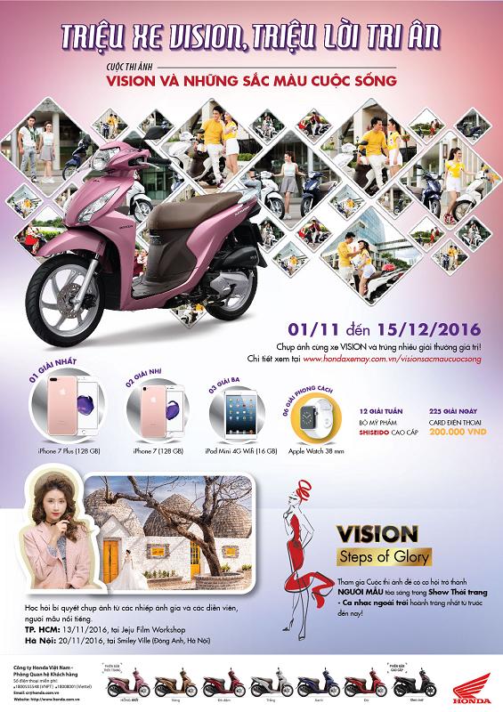 """Cuộc thi """"VISION và Những sắc màu cuộc sống"""" được diễn ra từ ngày 1/11 – 15/12/2016 với tổng giải thưởng lên tới 300 triệu đồng. - Tin sao Viet - Tin tuc sao Viet - Scandal sao Viet - Tin tuc cua Sao - Tin cua Sao"""