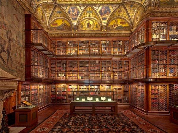 Bảo tàng và thư viện The Morgan, New York, được thành lập từ đầu thế kỷ 20, nơi lưu giữ bản thảo của các văn hào như Walter Scott, Honoré de Balzac, tác phẩm của cac danh họa Leonardo da Vinci, Michelangelo, Raphael, Rembrandt, Rubens, Gainsborough, Dürer, Picasso... Ảnh: The Morgan.
