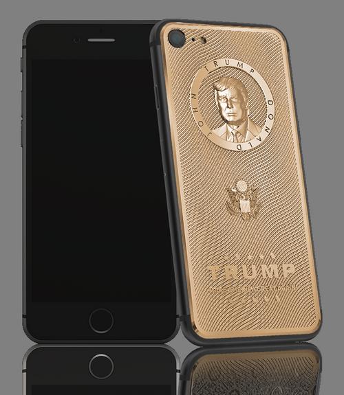 iPhone 7 phiên bản Donald Trump của Caviar. (Ảnh: internet)