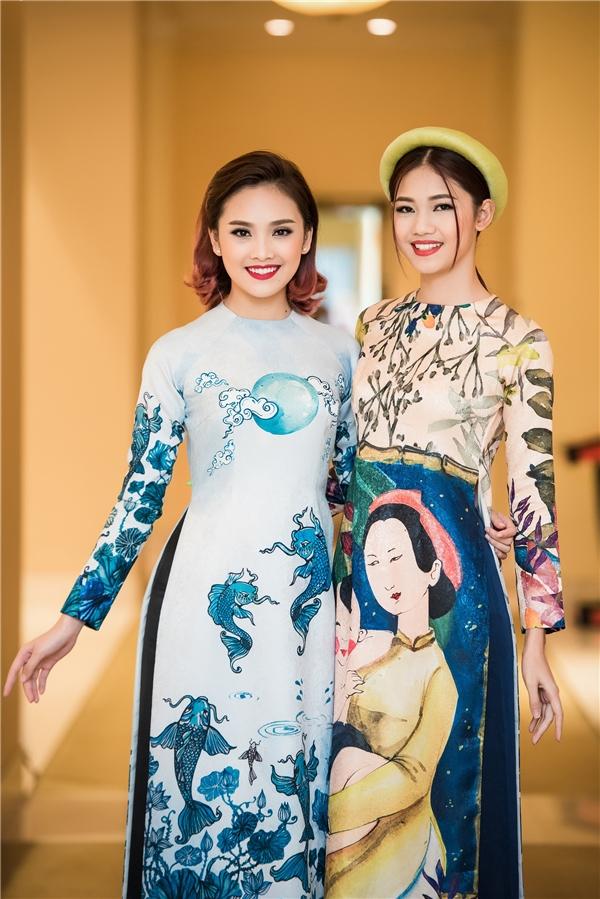 Tham dự sự kiện còn có Người đẹp có gương mặt khả ái Tố Như. Cả hai cùng trưởng thành ở cuộc thi Hoa hậu Việt Nam nên rất thân thiết với nhau.