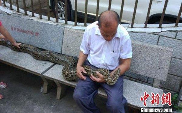 """Cụ Shi Jimin và """"con trai"""". (Ảnh: China News)"""