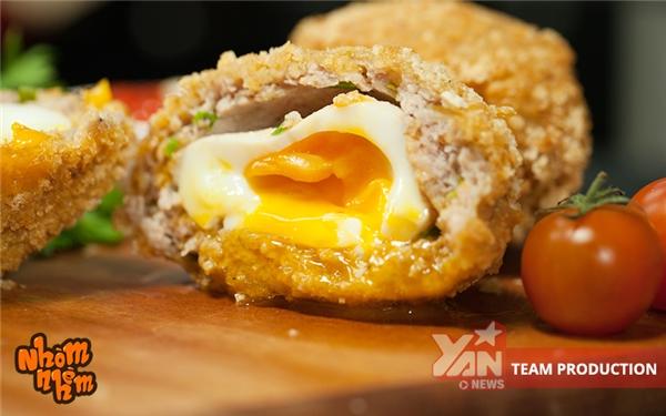cách làm món thịt cuộn trứng lòng đào