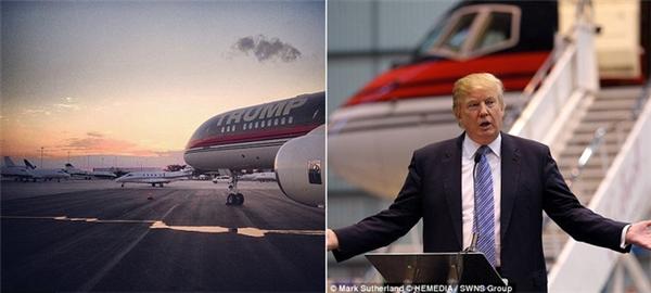 Tỉ phú Donald Trump đã khiến cả thế giới phải ngưỡng mộ khi tự sắm riêng cho mình chiếc máy bay Boeing 757 đẹp khó cưỡng.(Ảnh: Internet)