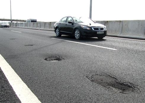 Hình ảnh chưa hoàn thiện của những tuyến đường đang tu sửa.