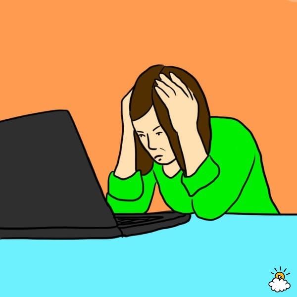 Người mất trí thường rất khó khăn khi phải viết lách.