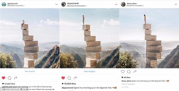 Không chỉ giống về cách tạo dáng, bối cảnh mà những bức ảnh từ tài khoảnGypsea_lust còn giống hệt với ảnh của Lauren cả về trang phục và góc máy.