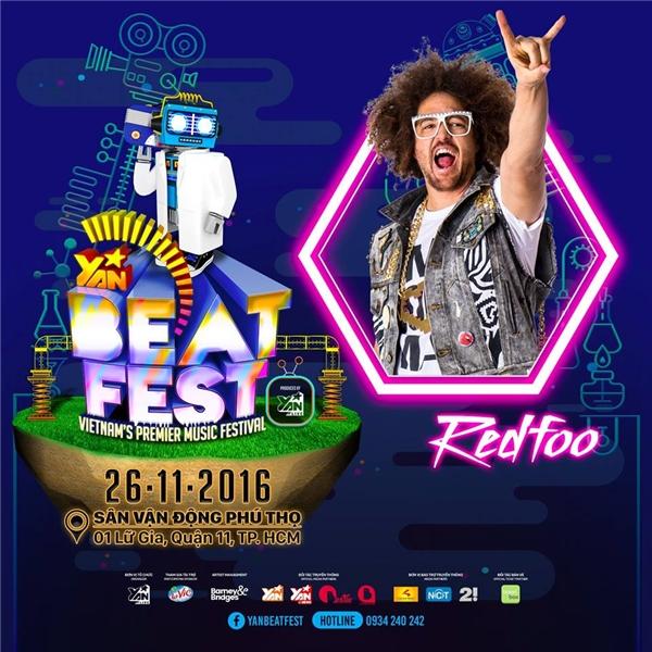 Redfoo khiến YAN Beatfest sôi sục với lời chào gửi đến fans Việt