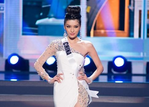 Hoa hậu Hoàn vũ Trung Quốc 2013 Cận Diệp bị chê là có thân hình khá mũm mĩm.