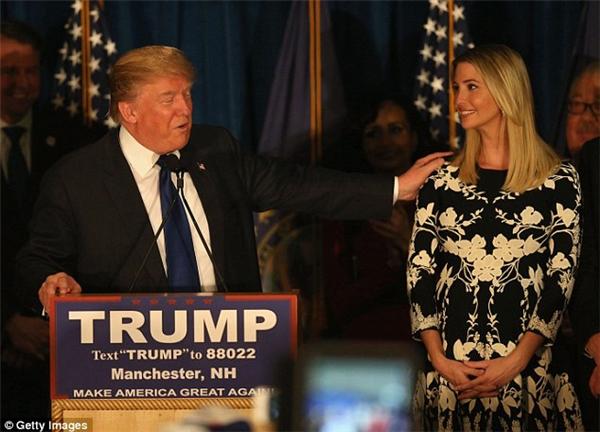 Ivanka – con gái cả có tầm ảnh hưởng lớn trong ngày đắc cửcủa Trump.