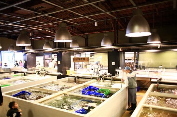 Addiction Aquatic Development (AAD) là một phần của chợ cá truyền thống tại chợ cá Đài Bắc.(Ảnh: Internet)