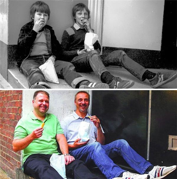 Một trong những niềm vui lớn nhất của đôi bạn này chính là sau hơn 30 năm vẫn còn bên nhau vui vẻ như thế này.