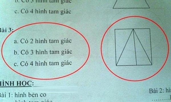 Theo bạn, có bao nhiêu tam giác trong hình.