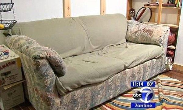 Chiếc ghế sofa này cất giữ một số tiền lớn mà không ai hay biết.