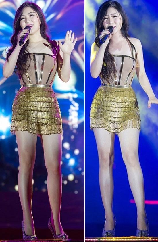 Trên sân khấu biểu diễn, trang phục ôm sát khoe đường cong gợi cảm luôn là lựa chọn hàng đầu của Hương Tràm. Sau quá trình giảm cân thành công, có thể thấy cô nàng ngày càng cuốn hút hơn.
