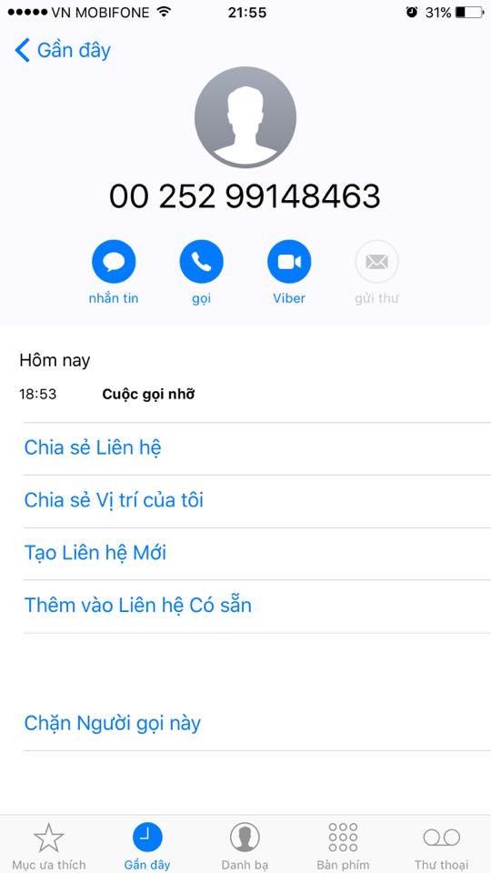 CẢNH BÁO: Bị trừ tiền điện thoại từ cuộc gọi nước ngoài