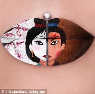 Cô gái từng mắc chứng u não biến đôi môi thành bức tranh nghệ thuật