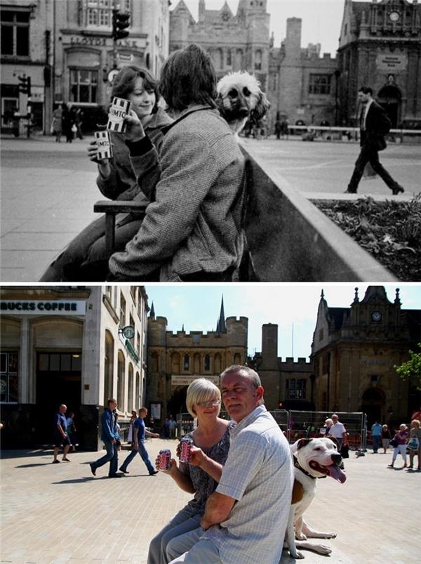 Tình yêu vẫn còn, cảnh vật vẫn thế, chúng mình vẫn bên nhau, nhưng chú chó cưng không đủ sức đi theo chứng kiến cho hạnh phúc của đôi mình. (Ảnh: Chris Pors)