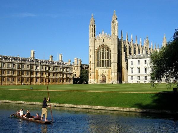 Một góc nhỏ của Đại học Cambridge.