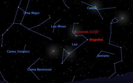 Mưa sao băng Leonids được nhiều người mong đợi.