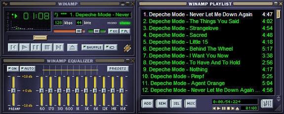 Nghe nhạc bằng WinAmp...(Ảnh: Internet)