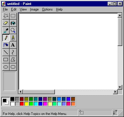 """""""Ông nội"""" của Photoshop hẳn là """"cụ"""" Paint này.(Ảnh: Internet)"""