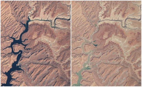 Hồ Powell, Arizona & Utah, Mỹ(03/1999 - 05/2014)