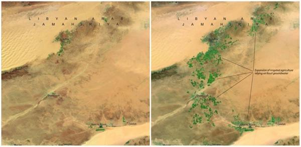 Sông Nhân Tạo, Libya (04/1987 - 04/2010), là công trình xây dựng lớn nhất thế giới, gồm một hệ thống khổng lồ những đường ống, cống và giếng sâu đến 500m, giúp cung cấp nước sạch cho khu vực sa mạc nắng nóng này.