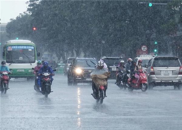 Các tỉnh thành phố như Đà Nẵng, Huế, Quảng Nam, Quảng Ngãi và miền Đông Nam Bộ có mưa vừa, mưa to, lượng mưa từ 30 – 60 mm do chịu ảnh hưởng mạnh từ hai hình thế gây mưa.